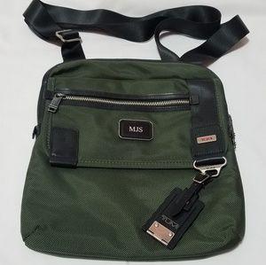 Tumi Green crossbody messenger bag